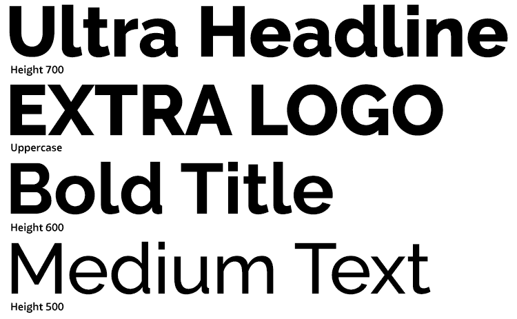 Typography heights